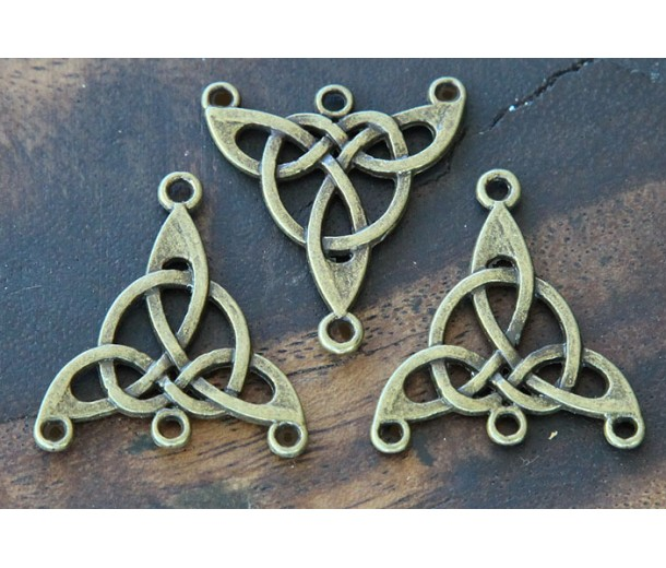 25x28mm Celtic Chandelier Components, Antique Brass