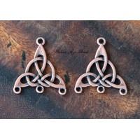 25x28mm Celtic Chandelier Components, Antique Copper, Pack of 4