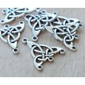 25x28mm Celtic Chandelier Components, Antique Silver, Pack of 4
