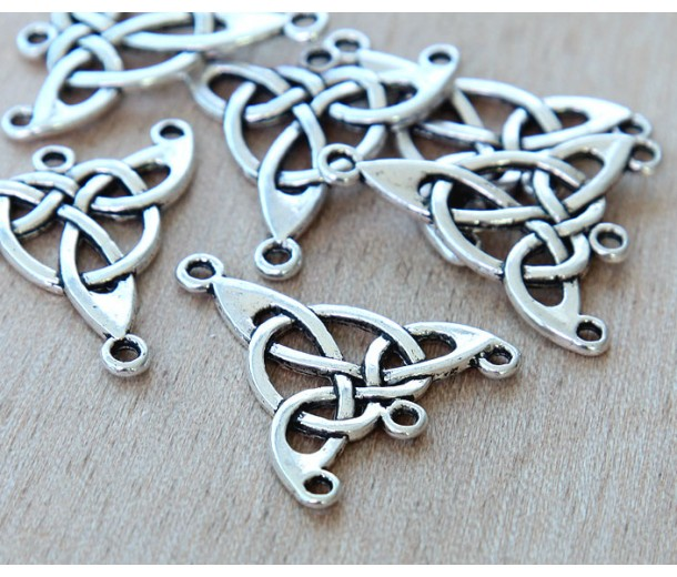 25x28mm Celtic Chandelier Components, Antique Silver