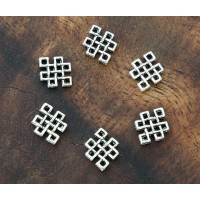 9x12mm Celtic Knot Links, Antique Silver