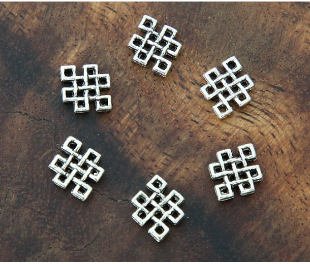 9x12mm Celtic Knot Links, Antique Silver, Pack of 20