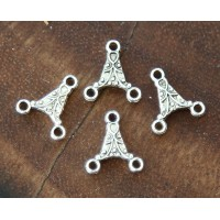 12x13mm Triangle Chandelier Components, Antique Silver, Pack of 20