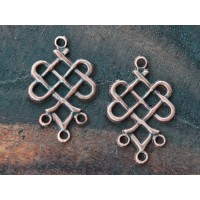 19x23mm Weave Chandelier Components, Antique Copper, Pack of 6