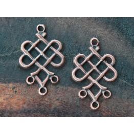 19x23mm Weave Chandelier Components, Antique Copper