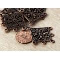 35mm Filigree Chandelier Components, Antique Copper, Pack of 4
