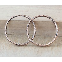 30mm Linking Rings With 2 Holes, Antique Copper