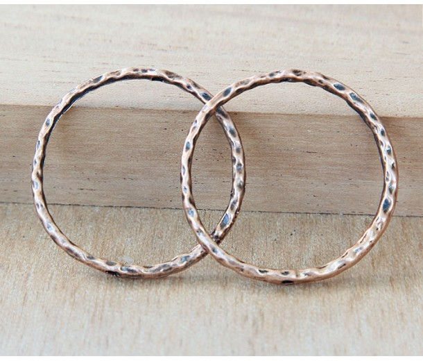 30mm Linking Rings With 2 Holes, Antique Copper, Pack of 10