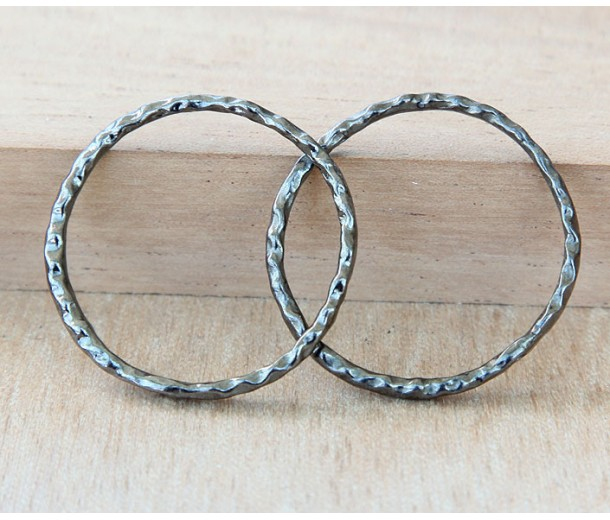30mm Linking Rings With 2 Holes, Gunmetal
