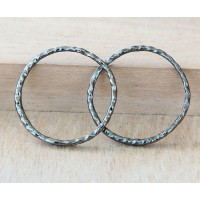 30mm Linking Rings With 2 Holes, Gunmetal, Pack of 10