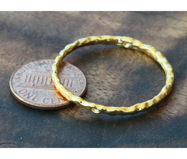 30mm Linking Rings With 2 Holes, Gold Tone