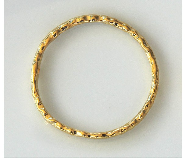 30mm Linking Rings With 2 Holes, Gold Tone, Pack of 10