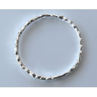 30mm Linking Rings With 2 Holes, Silver Tone, Pack of 10