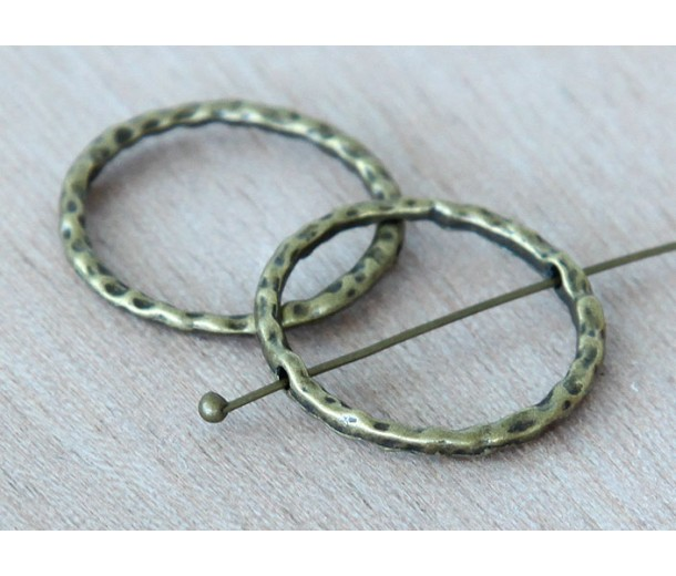23mm Linking Rings With 2 Holes, Antique Brass