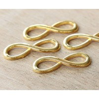 10x30mm Infinity Links, Gold Tone, Pack of 10