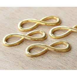 10x30mm Infinity Links, Gold Tone