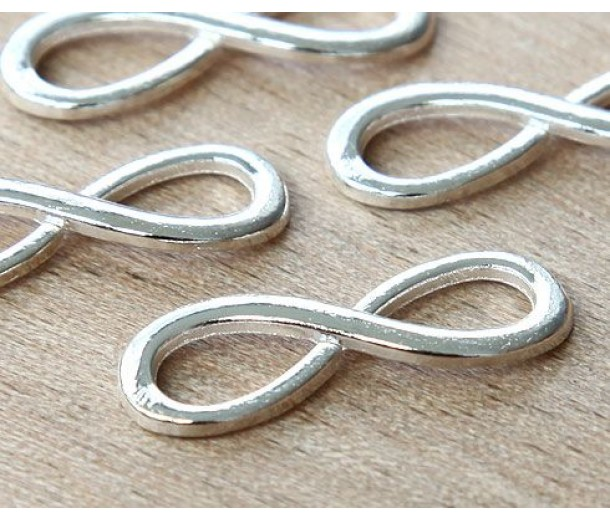 10x30mm Infinity Links, Silver Tone