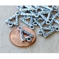 11x16mm Textured Triangle Links, Antique Silver