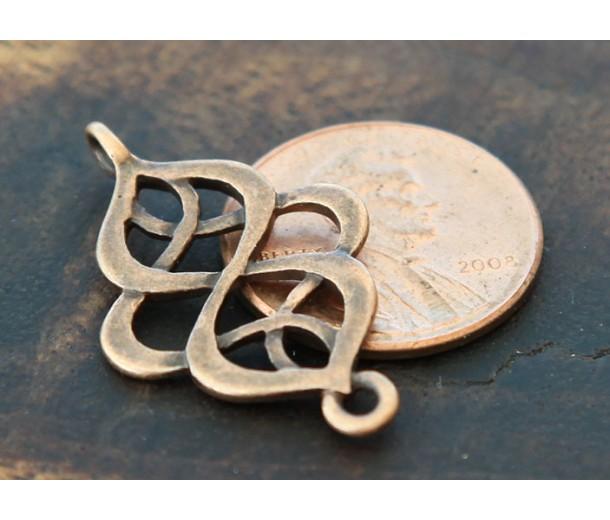 18x28mm Infinity Weave Links, Antique Copper
