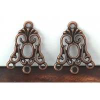 19x24mm Art Nouveau Chandelier Components, Antique Copper