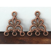 17x20mm Fancy Chandelier Components, Antique Copper