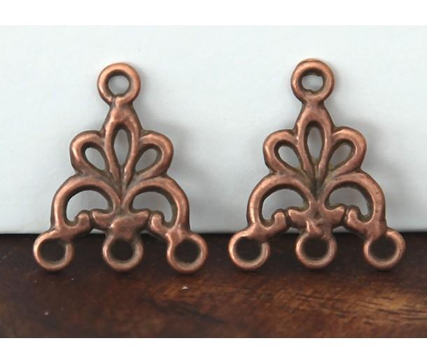 17x20mm Fancy Chandelier Components, Antique Copper