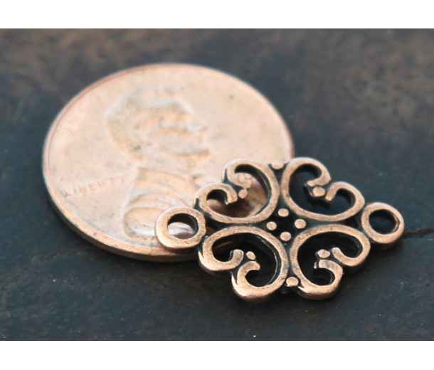 12x18mm Filigree Oval Links, Antique Copper, Pack of 10