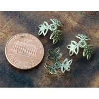 14mm Filigree Leaves Bead Caps, Antique ..