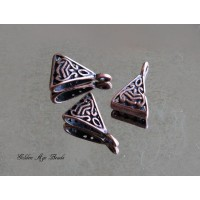 15x9mm Celtic Style Bails, Antique Copper