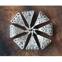 15x9mm Celtic Style Bails, Antique Silver