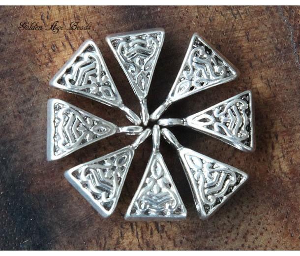 15x9mm Celtic Style Bails, Antique Silver