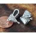15x9mm Celtic Style Bails, Antique Silver, Pack of 10