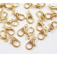 10x6mm Lobster Clasps, Gold Tone