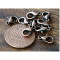 10x6mm Lobster Clasps, Antique Copper