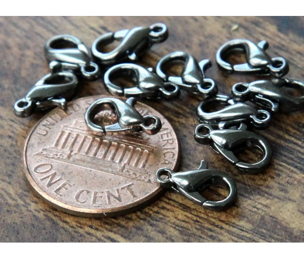 10x6mm Lobster Clasps, Gunmetal