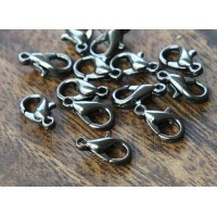 10x6mm Lobster Clasps, Gunmetal, Pack of 50