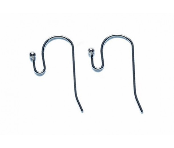 21mm Fish Hook Ear Wires, Gunmetal