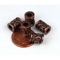 10x8mm Spiral Key Barrel Beads, Bronze, ..