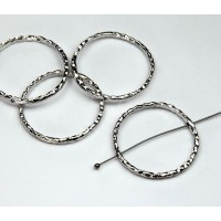 30mm Linking Rings With 2 Holes, Antique Silver, Pack of 10