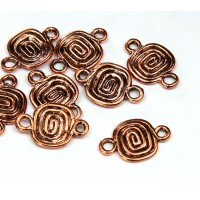 9x11mm Spiral Coil Links, Antique Copper, Pack of 4