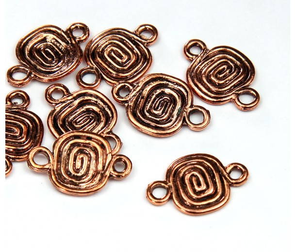 9x11mm Spiral Coil Links, Antique Copper
