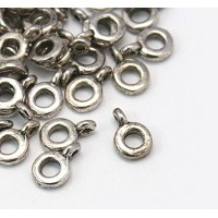 9x2mm Simple Ring Slider Bails, Antique Silver