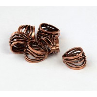 11x9mm Twigs Filigree Bail, Genuine Copper, 1 Piece
