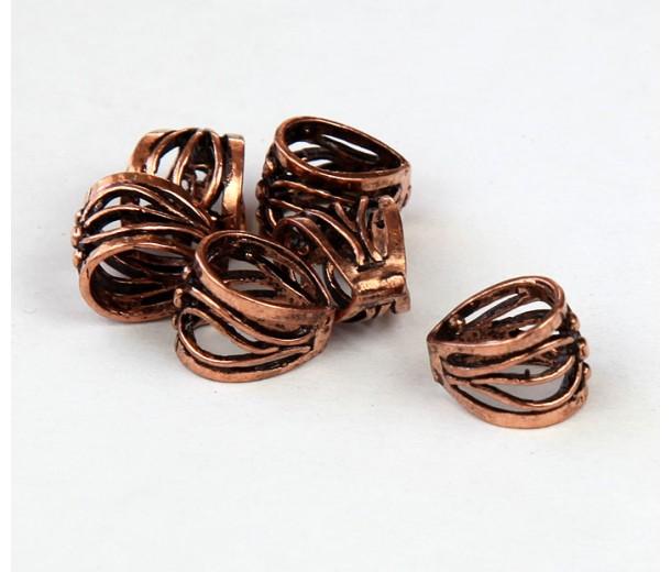 11x9mm Twigs Filigree Bail, Genuine Copper