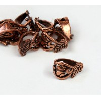 13x9mm Floral Filigree Bail, Genuine Copper, 1 Piece