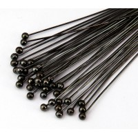 1.5 Inch 24 Gauge Ball Pins, Gunmetal