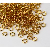 4mm 19 Gauge Open Jump Rings, Round, Gold Tone, Pack of 100
