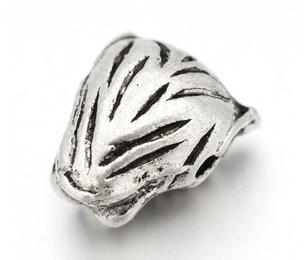 14mm Leopard Head Focal Bead, Antique Silver