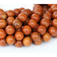 Natural Wood Beads, Brown, 10mm Round