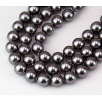 Shell Pearls, Grey Purple, 8mm Round